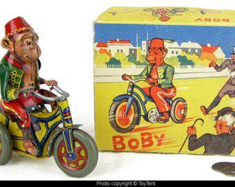 Arnold Boby monkey cyclist tin wind-up toy - Edit Listing - Etsy