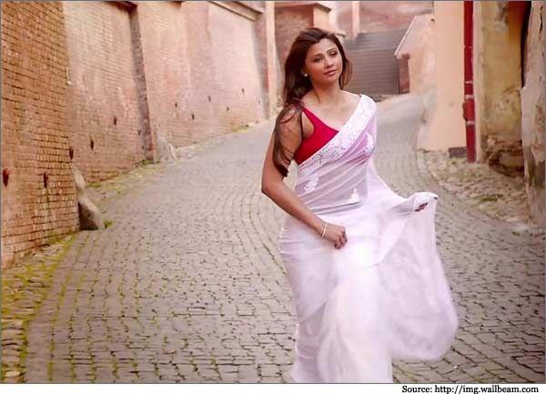 Jai ho Actress Daisy Shah in Designer Sarees, Silk Sarees