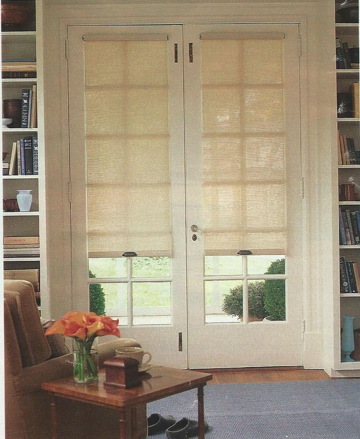 Roller shade over door window & 25+ best ideas about Door shades on Pinterest | Door coverings ... Pezcame.Com