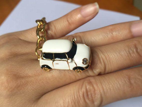 mini gold car ring , super mini car , Personality keychain, especially Bracelet,drop of oil plus ,gr