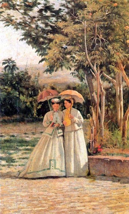 Silvestro Lega (italian painter) - Una Passeggiata/ a walk
