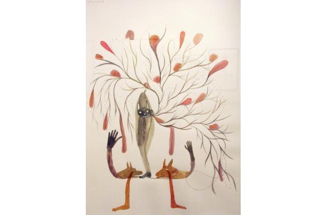 Erik Jerezano | The Gardener Disguised as a Lawyer |Encre et aquarelle sur papier (ink and watercolour on paper) |2008