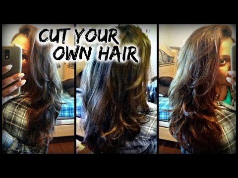 how to cut your own hair short in the back