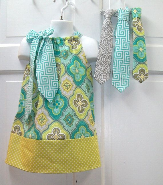 Pillowcase Dress with your choice of matching by KadeesKidsKlothes, $32.50