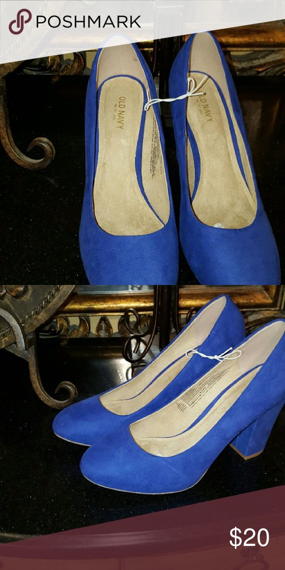 On Hold for trade* Royal blue dress shoe Royal Blue block heel dress shoes from Old Navy Old Navy Shoes Heels