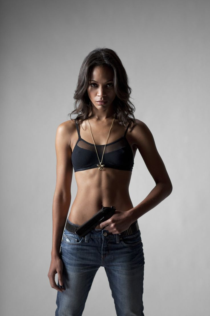 Zoe Saldana in Colombiana *Someday (very soon) my body will look as fantastic as hers! #beautiful #inspiration!