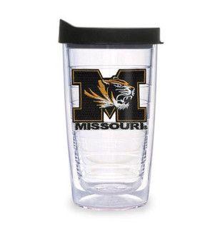 Missouri Tigers 16oz Lid Patch Tumbler