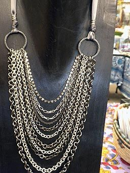 Make Your Own Designer Jewelry: Multi-Chain Necklace...Website has good tutorials on wire wrapping and working with metal.