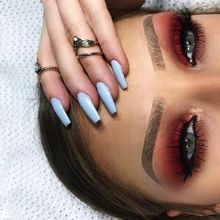 "473 Likes, 5 Comments - LASHIOUS™ (@lashious_lash) on Instagram: ""Inspo. Stunning red-toned smokey eye with lengthy lashes. [  @klaudia.owczarek ]  #lashious"""