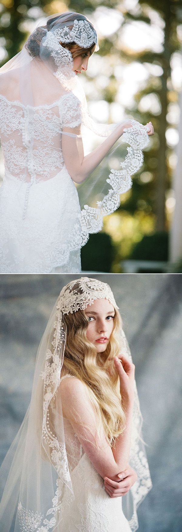 gorgeous cap style wedding veils