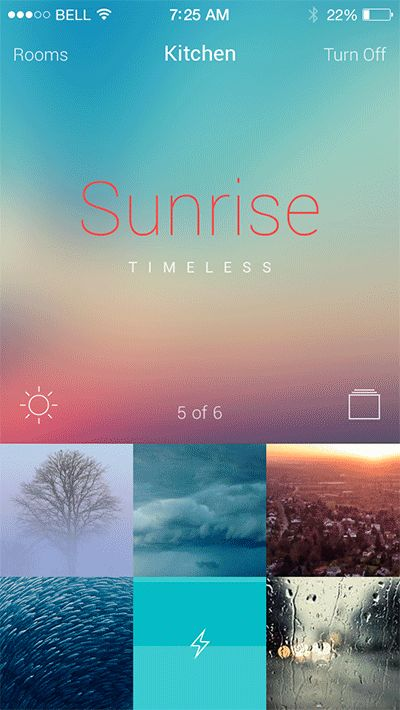 Philips Hue App by Alex Perekatov, via Behance