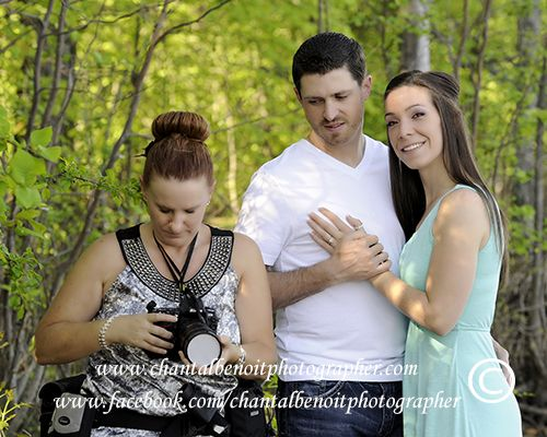Behind the scene at Corianne & Miguel's e-session at Petrie Island #weddingphotography