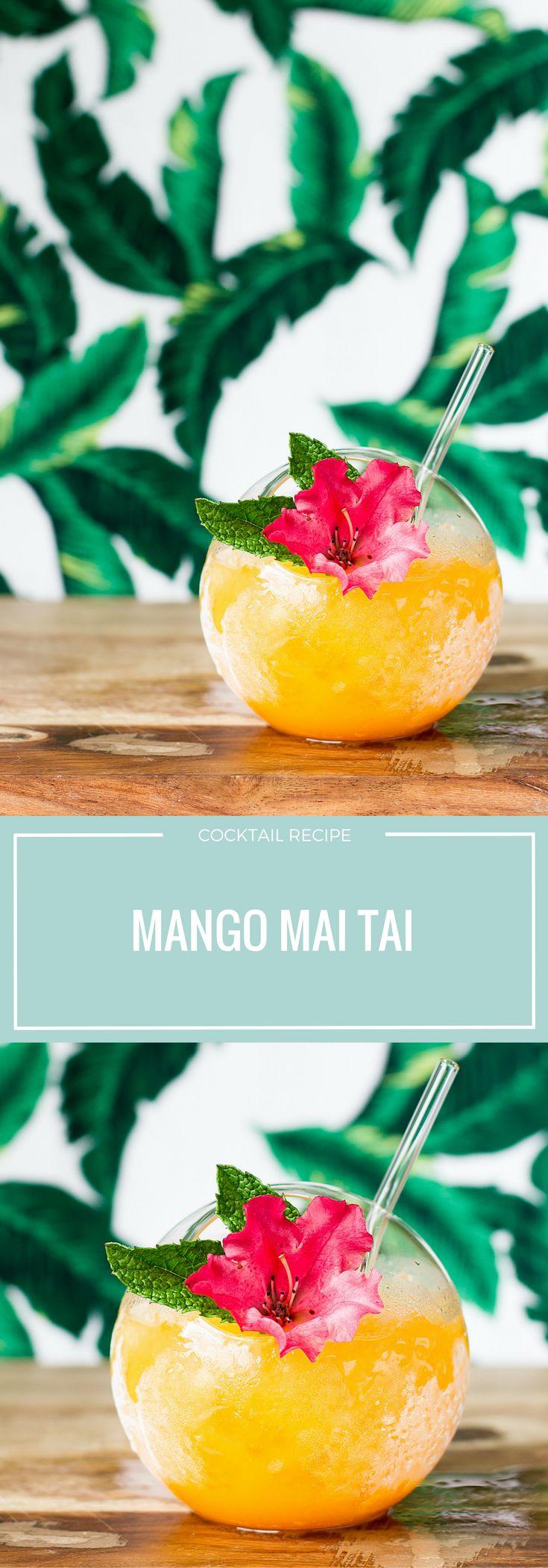 Mango Mai Tai Recipe | Tiki Drinks | Summer Cocktail | Rum | Tropical