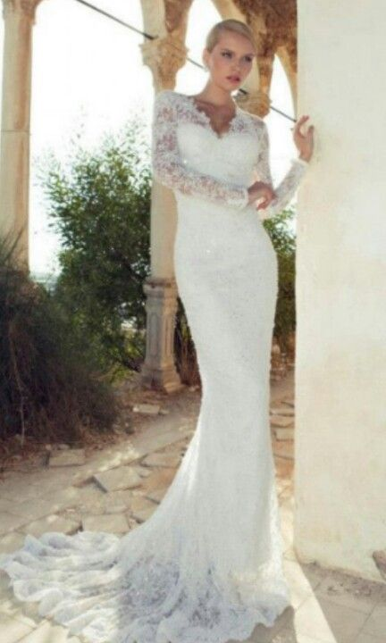 Long sleeve lace wedding dress meagan l this is for you for Long sleeve wedding dress topper