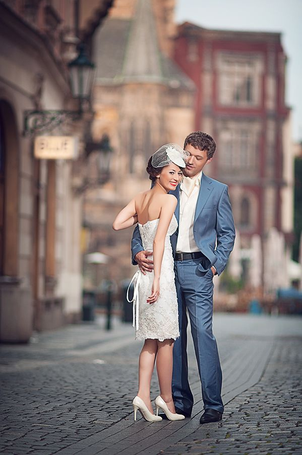 Stylish Prague wedding #couple #wedding #Europe Click the picture to see the whole photoshoot!