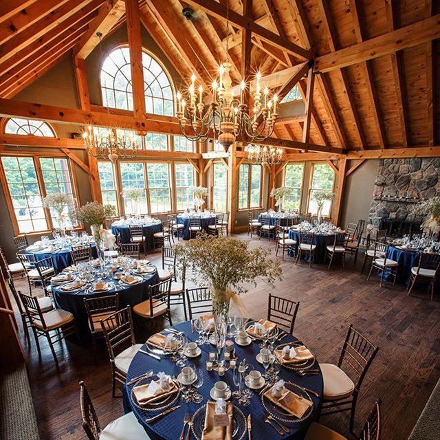 Wedding season has just started for us and I can't wait to see all the beautiful venues our clients have chosen. Here's one of our favorites with the big windows and lovely beams. @trilliumresort