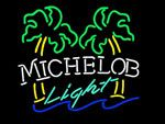 Michelob Light Dual Palm Trees Neon Beer Sign, Michelob Neon Beer Signs & Lights | Neon Beer Signs & Lights. Makes a great gift. High impact, eye catching, real glass tube neon sign. In stock. Ships in 5 days or less. Brand New Indoor Neon Sign. Neon Tube thickness is 9MM. All Neon Signs have 1 year warranty and 0% breakage guarantee.  Have this one