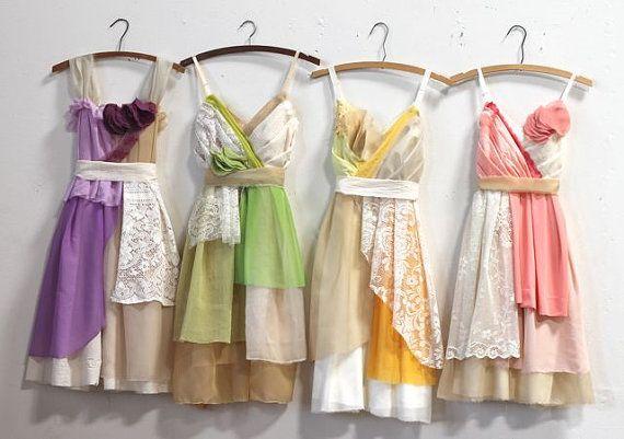 Custom Mismatched Bridesmaids Dresses by Armour sans Anguish #mismatchedbridesmaids