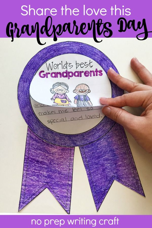 Looking for a fun Grandparents Day craft idea for your kids? These printable, no prep activities give kids a chance to write about their grandma, grandpa, or grandparents. Includes both colorable and blank circles so students can draw their own grandparent. Perfect for bulletin board displays in September and a great memento to share after a Grandparent Day lunch!