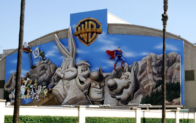 """Took the VIP tour at Warner Brothers Studios,  CA.  It's amazing to see all the """"behind the scenes"""" stuff.  The FRIENDS coffee house set has been saved and you actually get to sit in the coffee house during part of the tour!"""