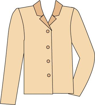 Sketch of blouse with convertible collar worn open