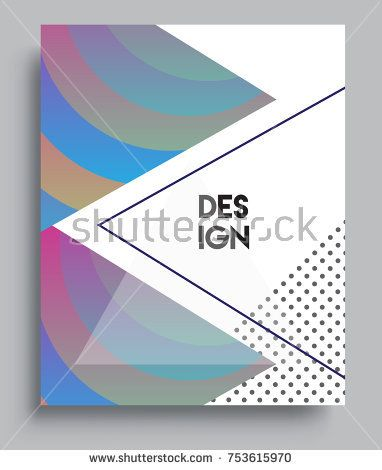 Cover design template with triangle shape, arrangement of abstract lines and style graphic geometric elements. Applicable for placards, brochures, posters, covers and banners. Vector Design