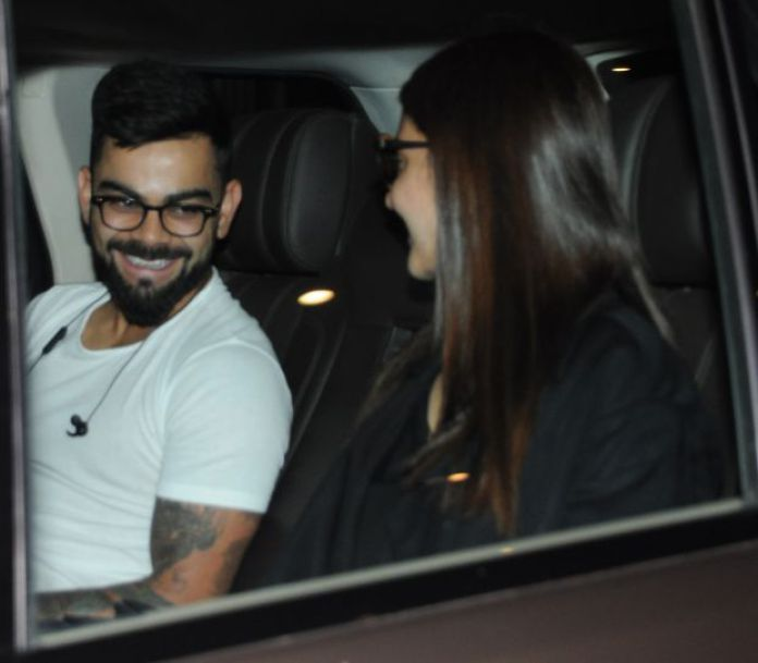 Virat Kohli receives better-half Anushka Sharma at Mumbai Airport