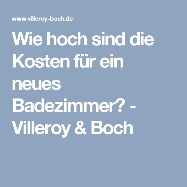 25+ melhores ideias de Neues bad kosten no Pinterest Bad - badezimmer villeroy boch photo gallery