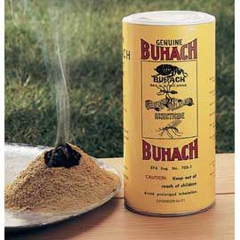 "Buhach Insect Powder  Nature's ""secret"" bug repellent — no synthetic chemicals!  Made of ground pyrethrum flowers, Buhach powder is Mother Nature's organic insecticide. Repels spiders, ants, fleas, roaches, flies and mosquitoes without harsh chemicals.  Reviews give it 4.6 stars out of 5!"