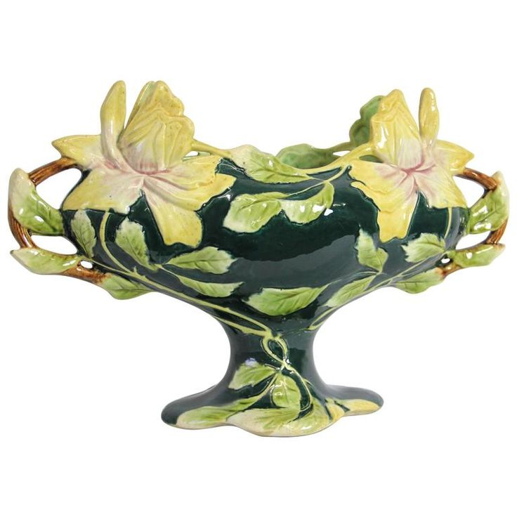 Wonderful Big Art Nouveau Jardiniere, Attributed to Julius Dressler, 1900