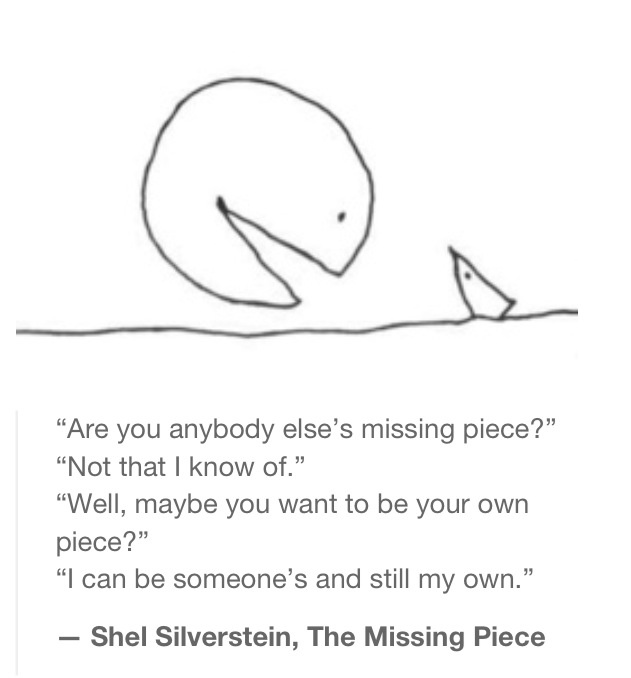 Missing Piece -- Shel Silverstein                                                                                                                                                                                 More
