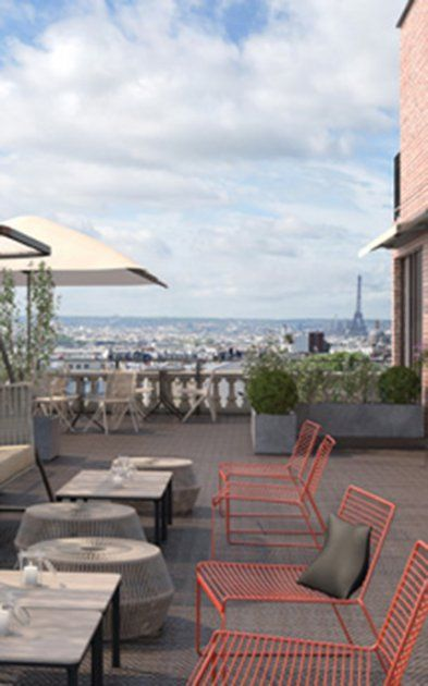 Terrass' Hotel Restaurant, Bar et Terrasse panoramiques 12-14 rue Joseph de Maistre (18e)
