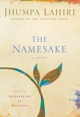 """The Namesake // Jhumpa Lahiri. """"Lahiri's quietly dazzling novel is that rare thing: an intimate, closely observed family portrait that effortlessly and discreetly unfolds to disclose a capacious social vision. [A]bout two generations of the Ganguli family and [also] about exile and its discontents, as affecting in its Chekhovian exploration of parents and children as it is resonant in its exploration of what is acquired and lost by immigrants and their children in pursuit of the American…"""