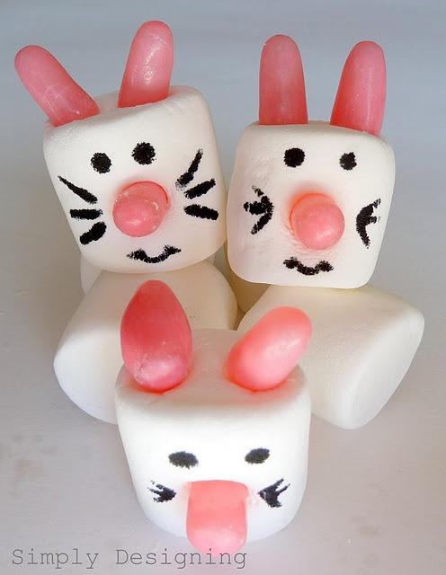 bunnies: Easter Idea, Spring Marshmallows, Bunny Marshmallows, Holidays Easter, Marshmallow Bunnies, Easter Bunny, Spring Easter, Easter Spring