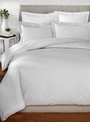 70% OFF Mason Street Textiles Hotel Piping Duvet Set (Steel/White)