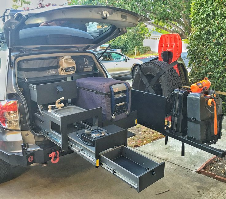 Overland Kitchen drawer system installed on my Subaru Forester (built and designed by Scout Equipment) #subaru #wrx #sti #impreza #forester #subie