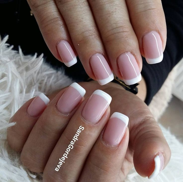 french nails gel nails nude french gel polish