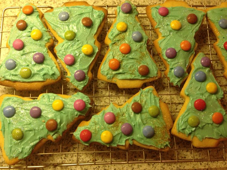 Christmas tree biscuits - these have become a tradition in our family and it wouldn't be a dessert plate without them!