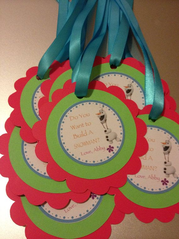 Olaf Summer Party Favor Tags-set of 10 on Etsy, $15.00