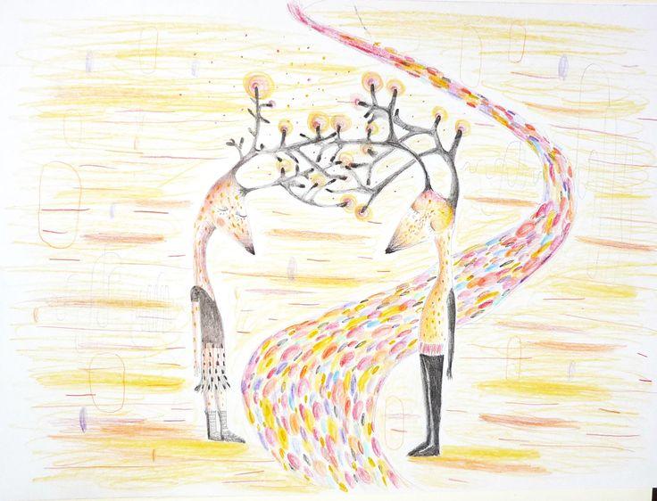 Conexión, lápiz sobre papel