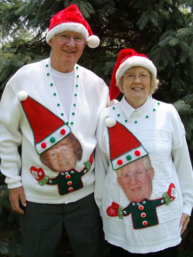 His and hers ugly christmas sweaters