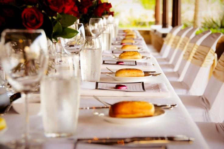 Elegant table settings on the Villa Botanica verandah
