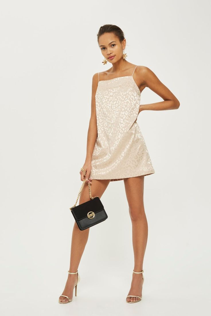 Jacquard Square Neck Mini Slip Dress - New In Fashion - New In - Topshop Europe