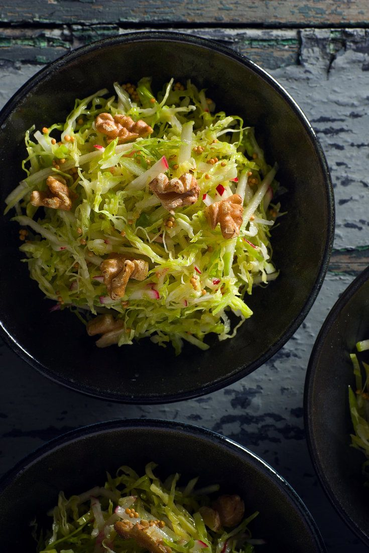 Savoy Cabbage Slaw With Applesauce Vinaigrette and Mustard Seeds Recipe - NYT Cooking