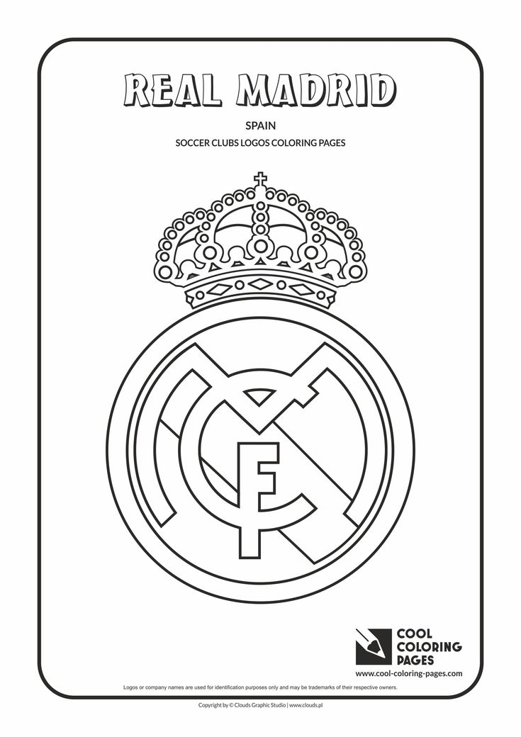 Cool Coloring Pages - Others / Real Madrid logo / Coloring page with Real Madrid logo