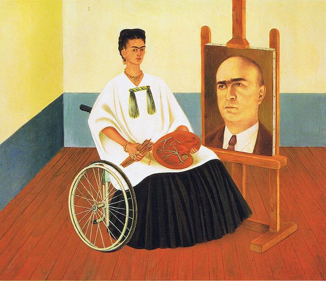 Frida Kahlo: Self-Portrait with portrait of Dr. Farill (1951)   Flickr - Photo Sharing!