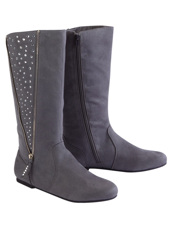 Rhinestone Embellished Zipper Boots (from Justice)