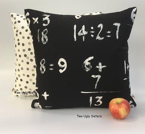 Teacher Gifts Maths Cushion Number Cushion Cover Decorative