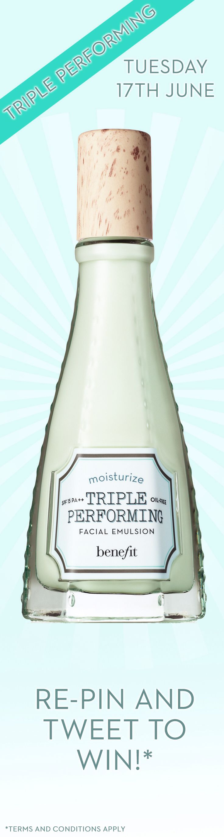 triple performing is triple the amazing! Re-pin to win Benebabes! #itsimplyworks