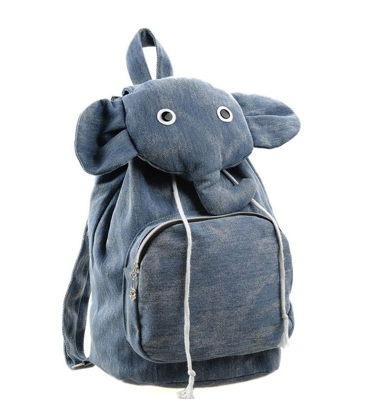 Fashion Cartoon Elephant Cute Canvas Backpack|Fashion Backpacks - Fashion Bags|ByGoods.com